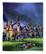 The Battle Of Saratoga, Showing A General Attack Led By Brigadier Arnold Fleece Blanket