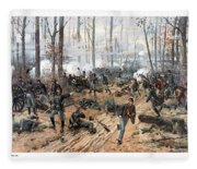 The Battle Of Shiloh Fleece Blanket