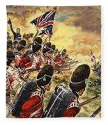 The Battle Of Waterloo Fleece Blanket
