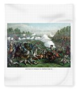 The Battle Of Winchester Fleece Blanket