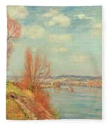 The Bay And The River Fleece Blanket