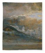 The Bay Of Naples With Vesuvius Fleece Blanket