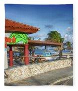 The Beach - Arashi Beach - Aruba - West Indies Fleece Blanket