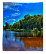 The Beach At Singing Waters Campground Fleece Blanket