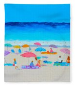 The Beach Holiday Fleece Blanket