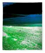 The Beach In Colors  Fleece Blanket