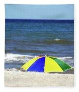 The Beach Is Mine Fleece Blanket