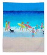 The Beach Parade Fleece Blanket