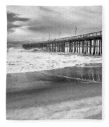 The Beach Pier Fleece Blanket