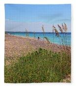 The Beaches Of Boca Grande Fleece Blanket