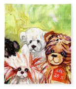 The Bears From The Yorkshire Moor 02 Fleece Blanket