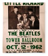 The Beatles And Little Richard Poster Collection 6 Fleece Blanket
