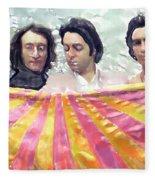 The Beatles. Watercolor Fleece Blanket
