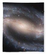 The Beautiful Barred Spiral Galaxy Ngc 1300 Fleece Blanket