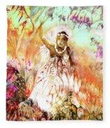 The Beautiful Black Bride Fleece Blanket