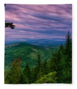 The Beautiful Olympic Mountains At Dawn - Olympic National Park, Washington Fleece Blanket
