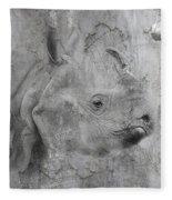 The Beautiful Rhino Fleece Blanket