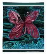 The Beauty Of A Butterfly's Spirit Fleece Blanket