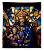 The Beauty Of Stained Glass Fleece Blanket