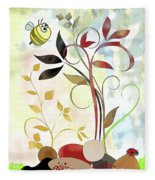 The Bee And The Ladybug Fleece Blanket