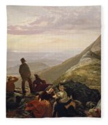 The Belated Party On Mansfield Mountain Fleece Blanket