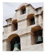 The Bells Of Mission San Gabriel Arcangel Portrait Fleece Blanket