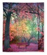 The Bench That Dreams Fleece Blanket