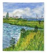 The Berkeley Island Pond Fleece Blanket