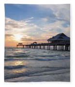 The Best Sunsets At Pier 60 Fleece Blanket