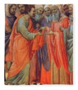 The Betrayal Of Judas Fragment 1311 Fleece Blanket