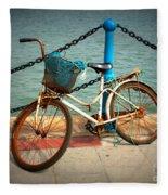 The Bicycle Fleece Blanket