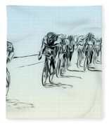 The Bike Race Fleece Blanket