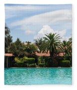 The Biltmore Pool Fleece Blanket