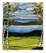 The Birches  Fleece Blanket