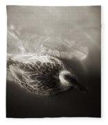The Bird And The Fish Fleece Blanket