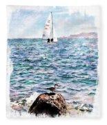 The Bird And The Sea Fleece Blanket