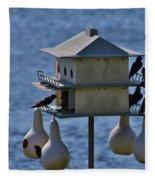 The Bird Hotel Fleece Blanket