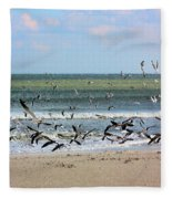 The Birds Fleece Blanket