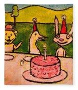 The Birthday Party Fleece Blanket