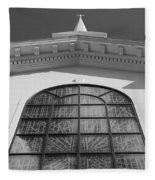 The Black And White Church Fleece Blanket
