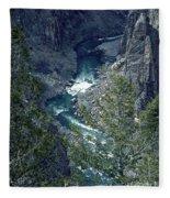 The Black Canyon Of The Gunnison Fleece Blanket