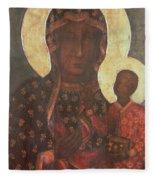 The Black Madonna Of Jasna Gora Fleece Blanket