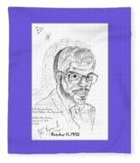 The Black Thinker Fleece Blanket