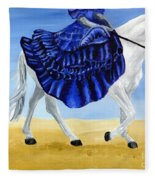The Blue And The White - Princess Starliyah Riding Candis Fleece Blanket