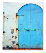 The Blue Door Shutters Fleece Blanket