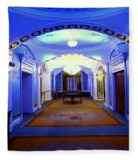 The Blue Hallway Fleece Blanket