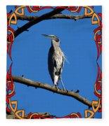 The Blue Heron Claimed He Was Framed Fleece Blanket