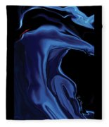 The Blue Kiss Fleece Blanket