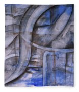 The Blue Machine Fleece Blanket