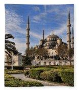 The Blue Mosque In Istanbul Turkey Fleece Blanket